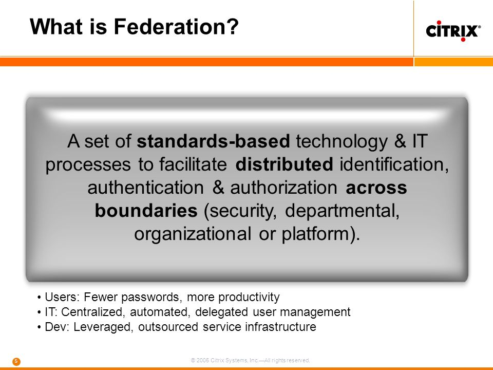 What is Federation