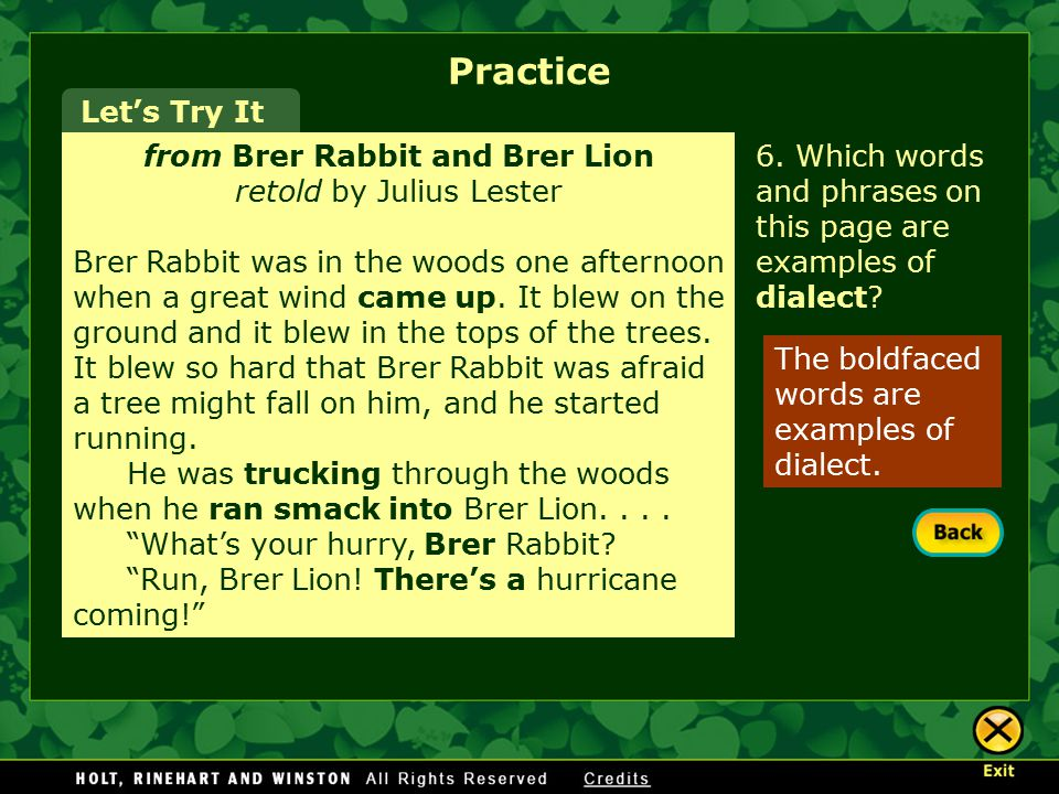 from Brer Rabbit and Brer Lion