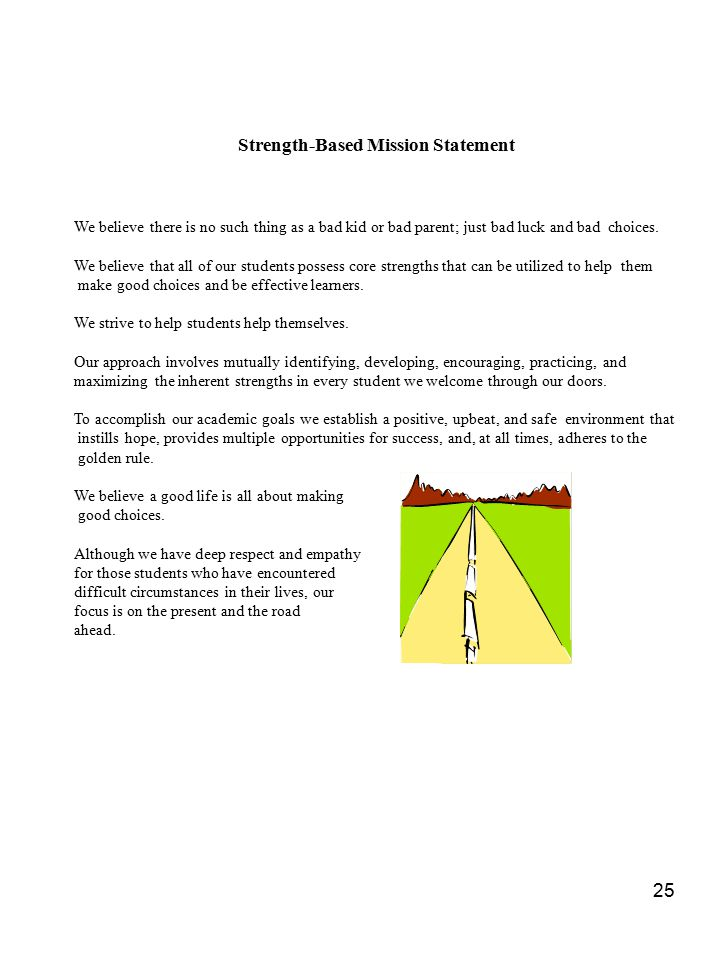 Strength-Based Mission Statement