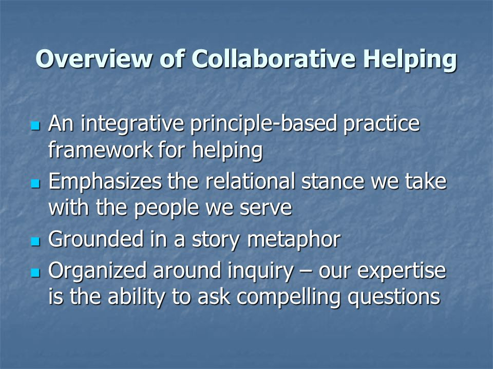 Overview of Collaborative Helping