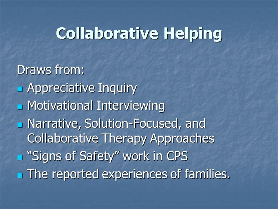 Collaborative Helping