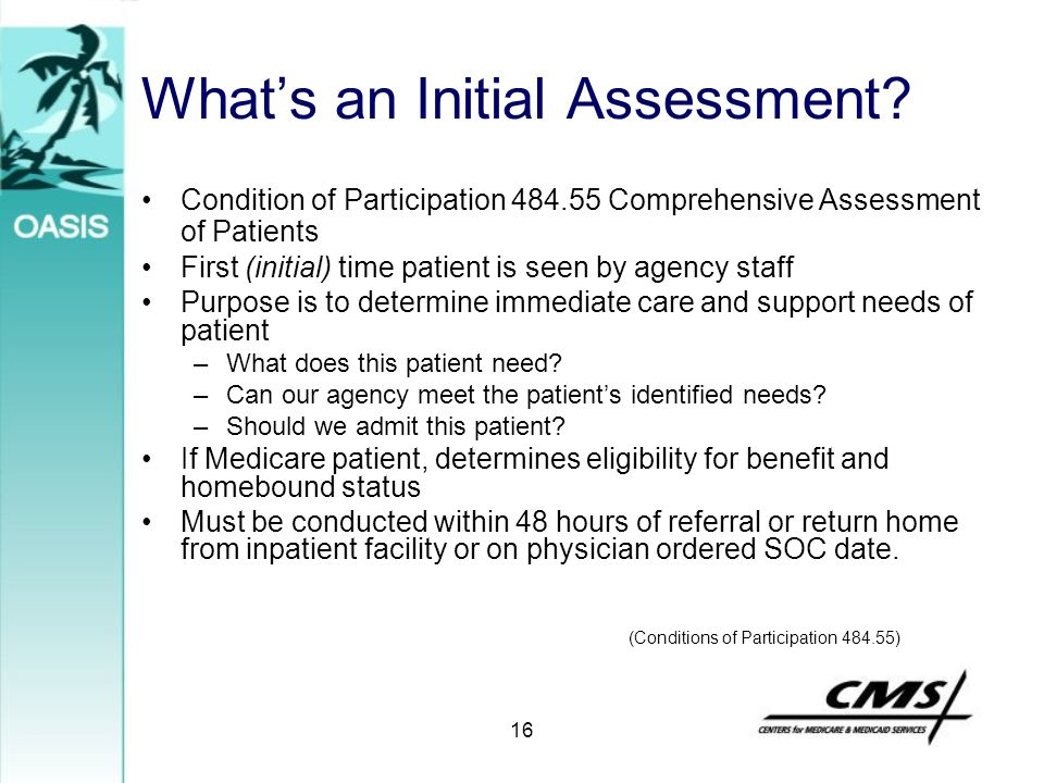 What's an Initial Assessment