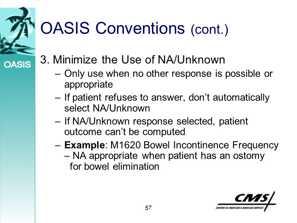 OASIS Conventions (cont.)