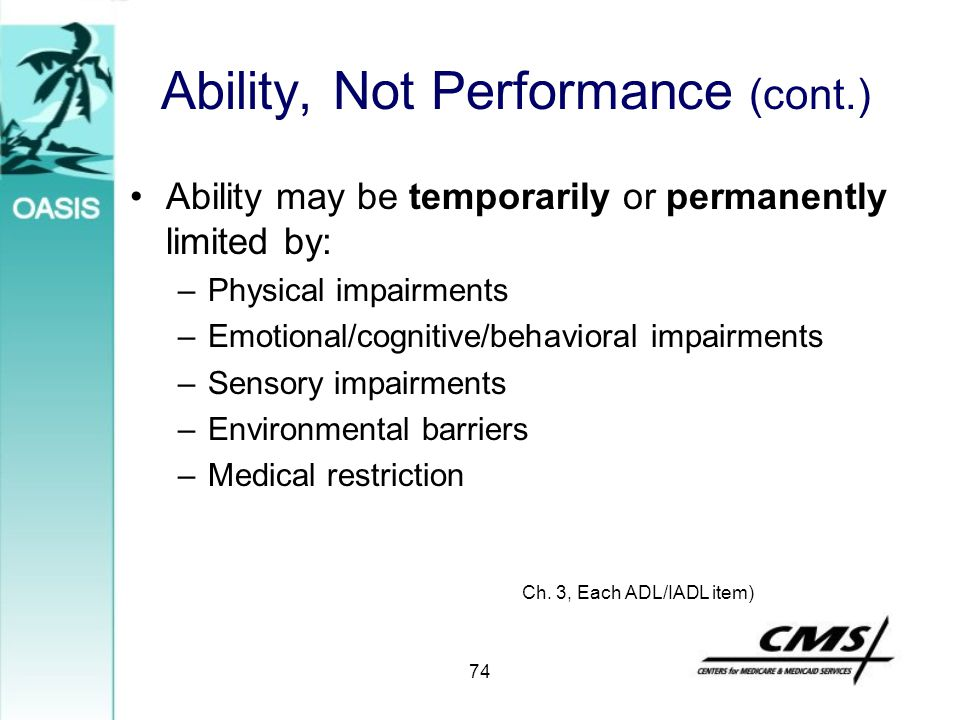 Ability, Not Performance (cont.)
