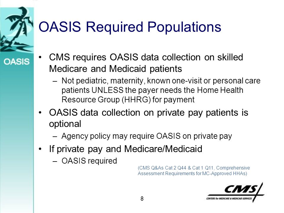 OASIS Required Populations