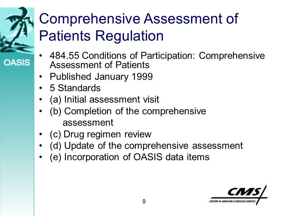 Comprehensive Assessment of Patients Regulation