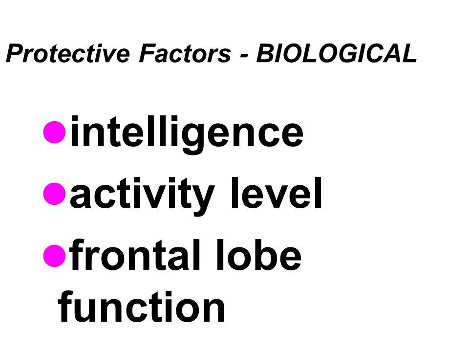Protective Factors - BIOLOGICAL