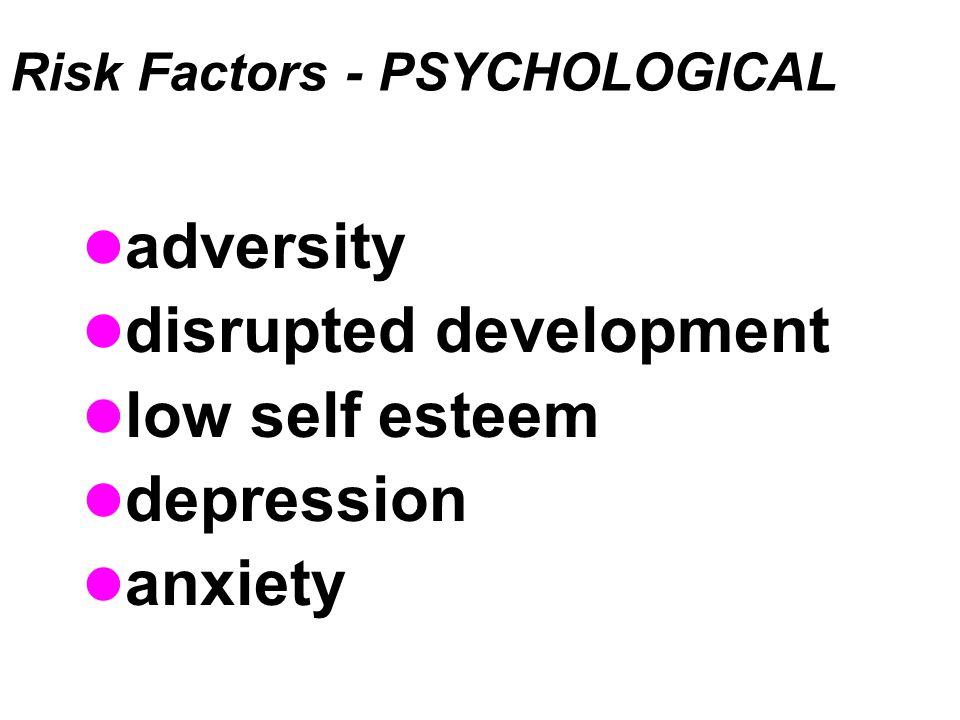 Risk Factors - PSYCHOLOGICAL