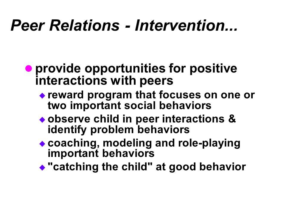 Peer Relations - Intervention...