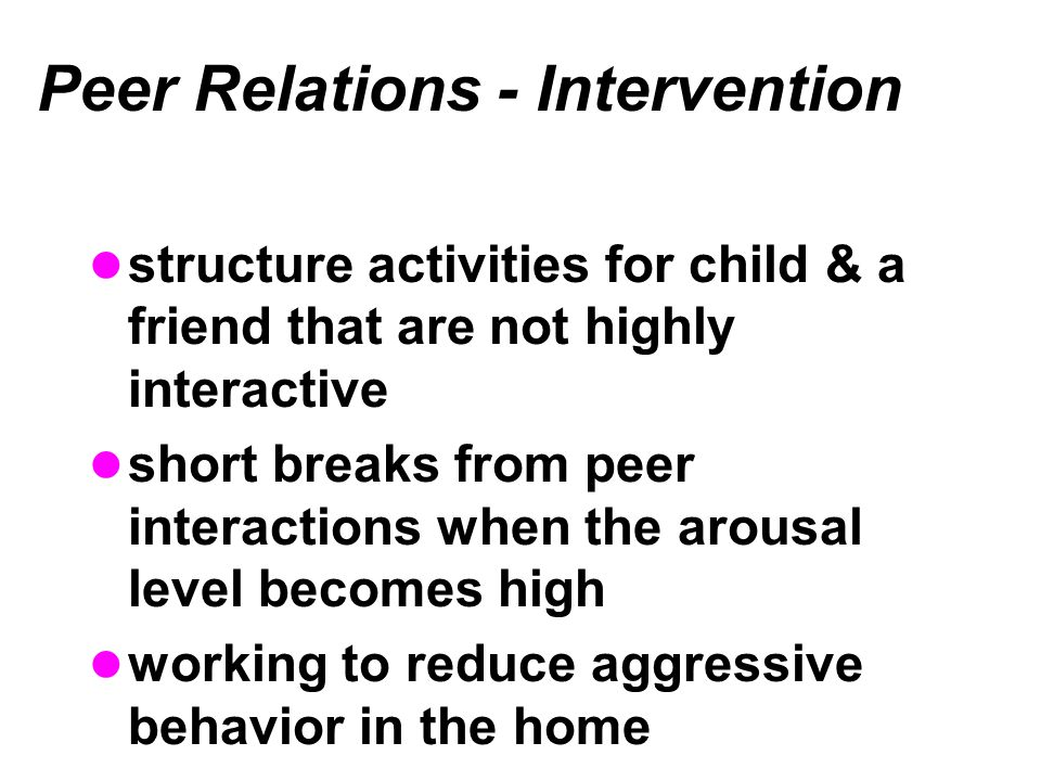 Peer Relations - Intervention
