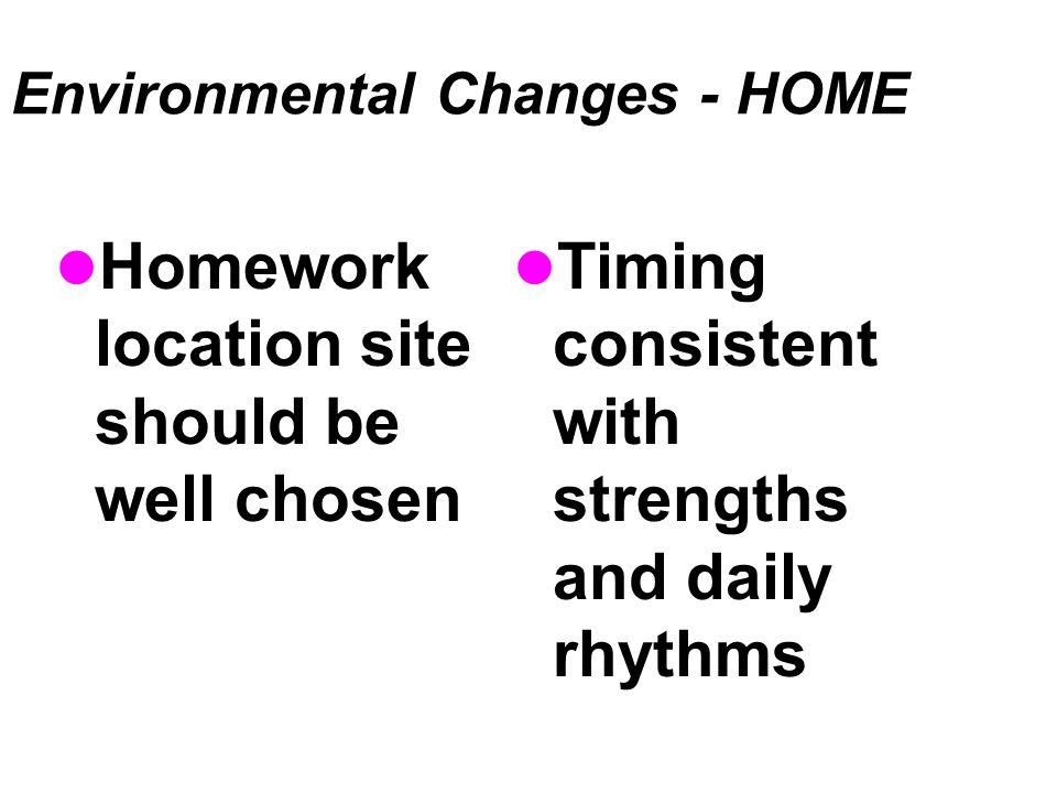 Environmental Changes - HOME