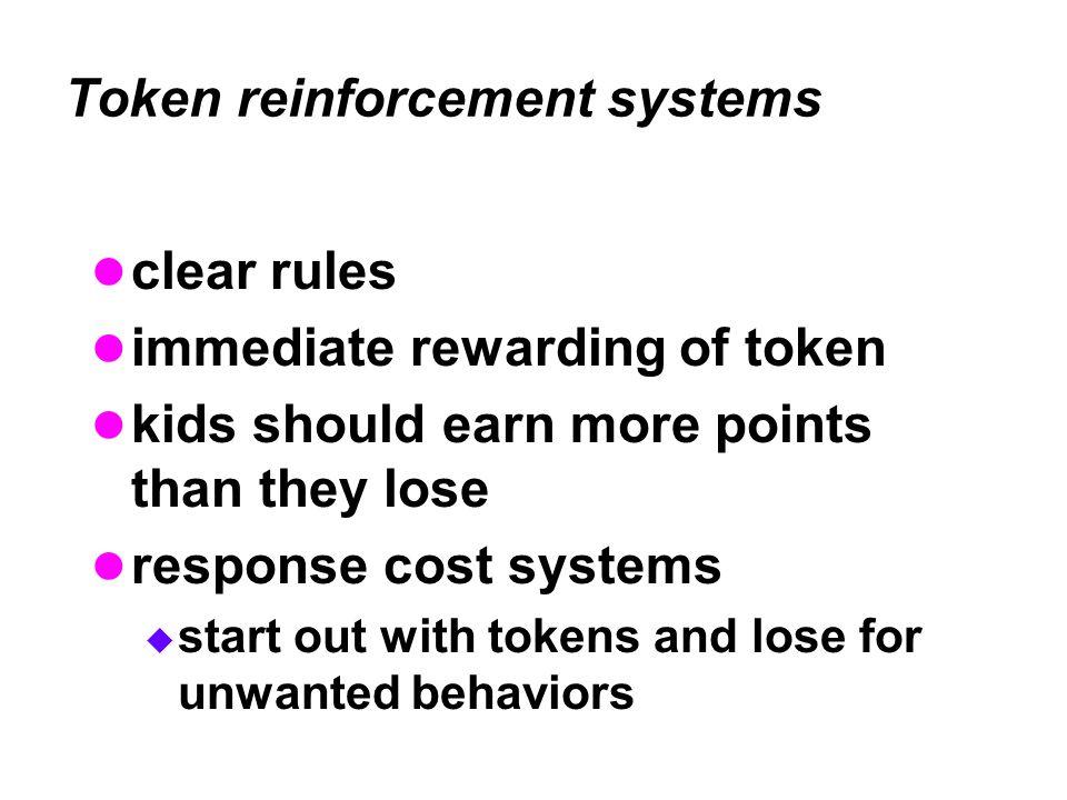Token reinforcement systems