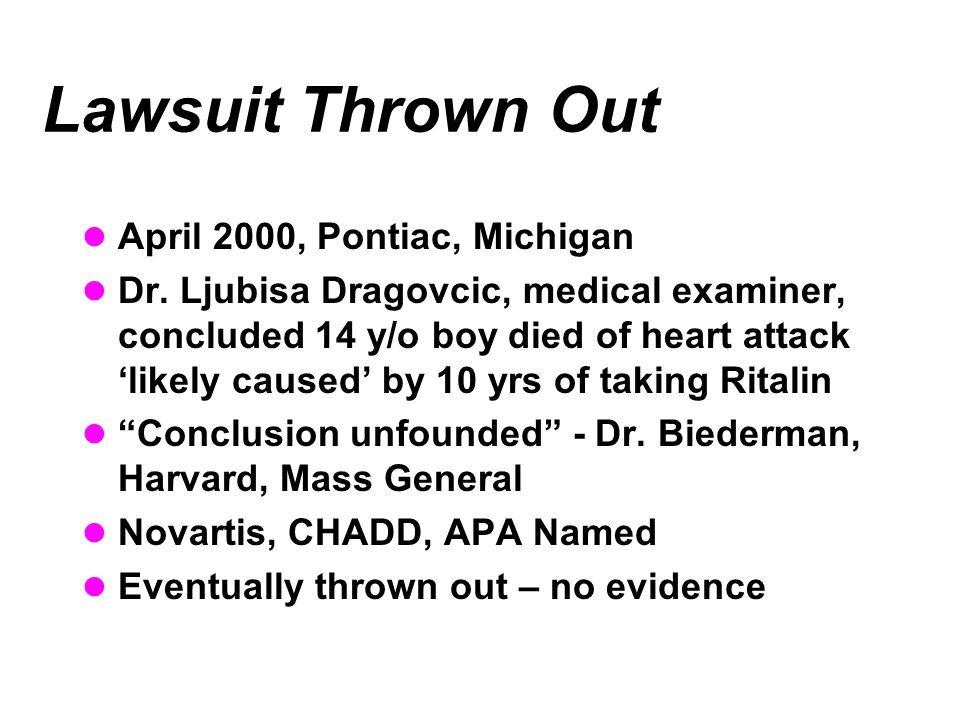 Lawsuit Thrown Out April 2000, Pontiac, Michigan