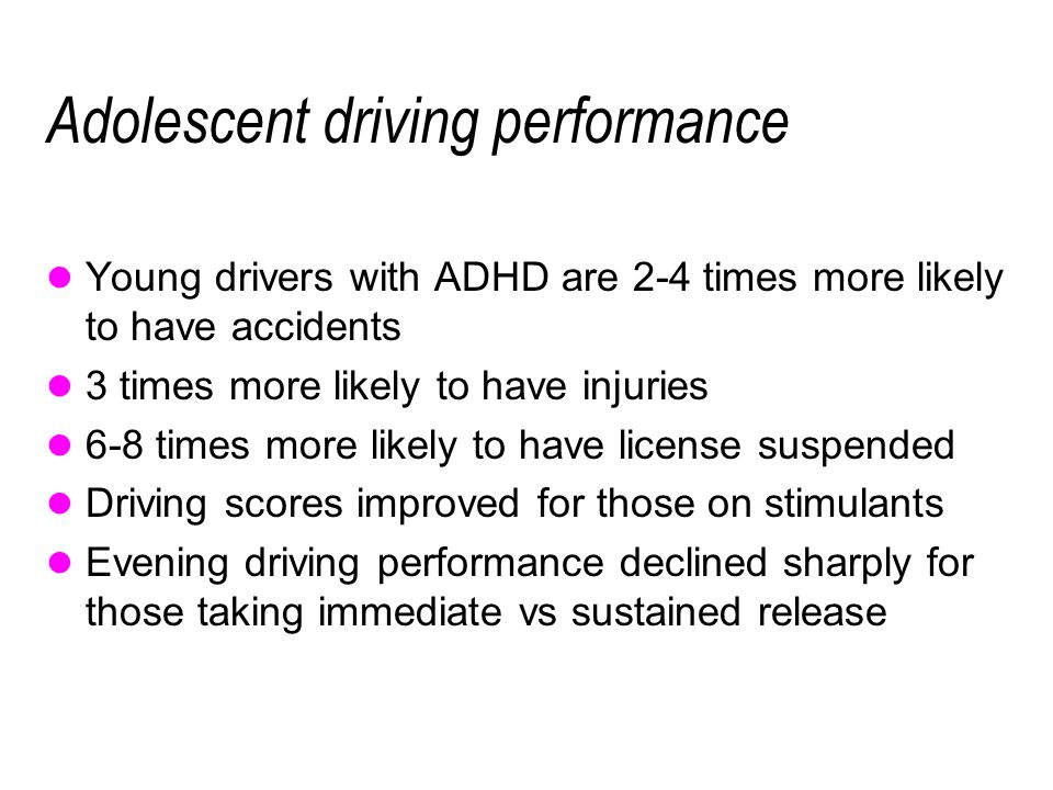 Adolescent driving performance