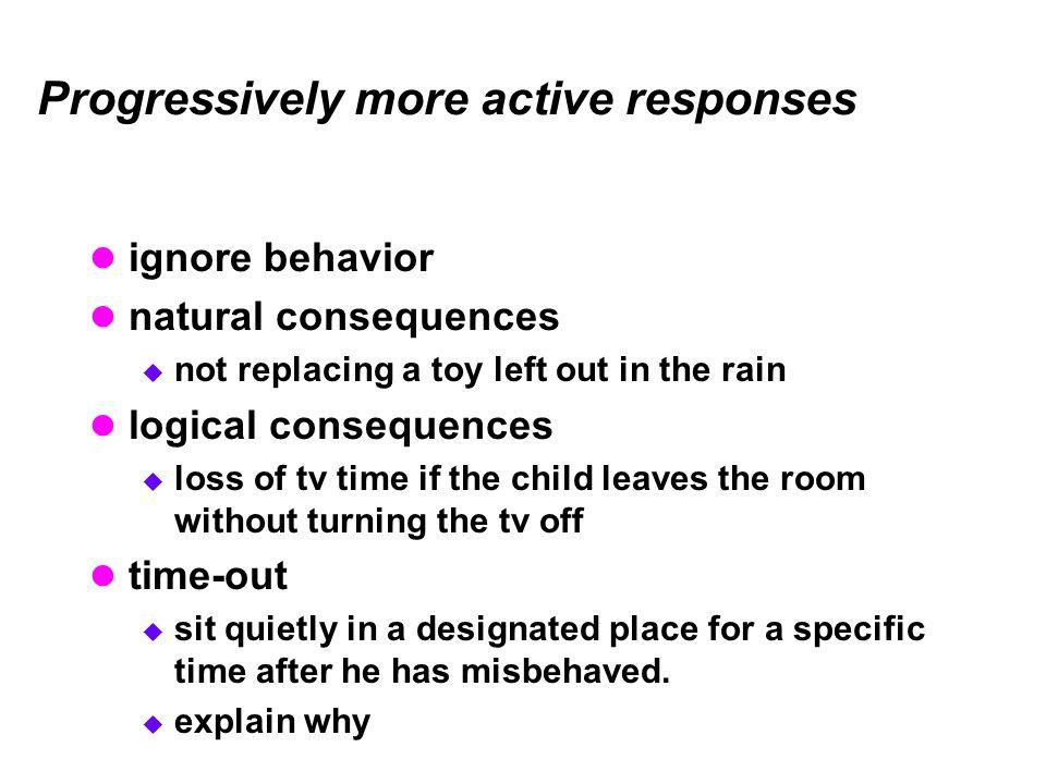 Progressively more active responses