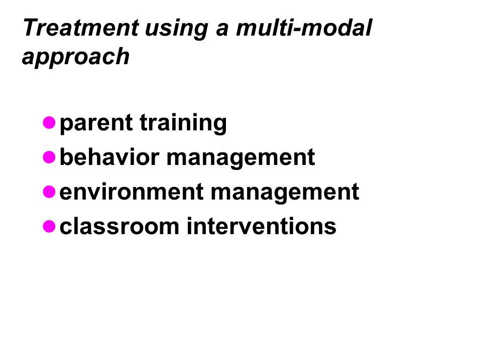 Treatment using a multi-modal approach