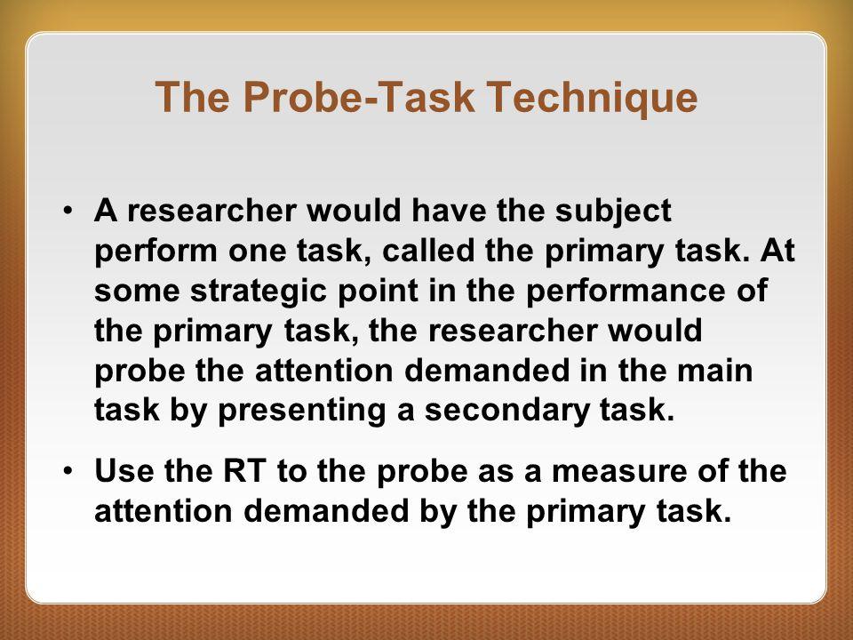 The Probe-Task Technique