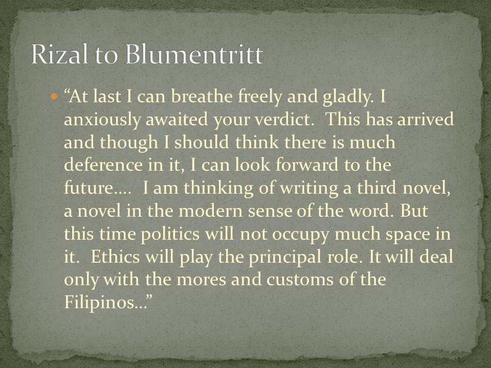 Rizal to Blumentritt