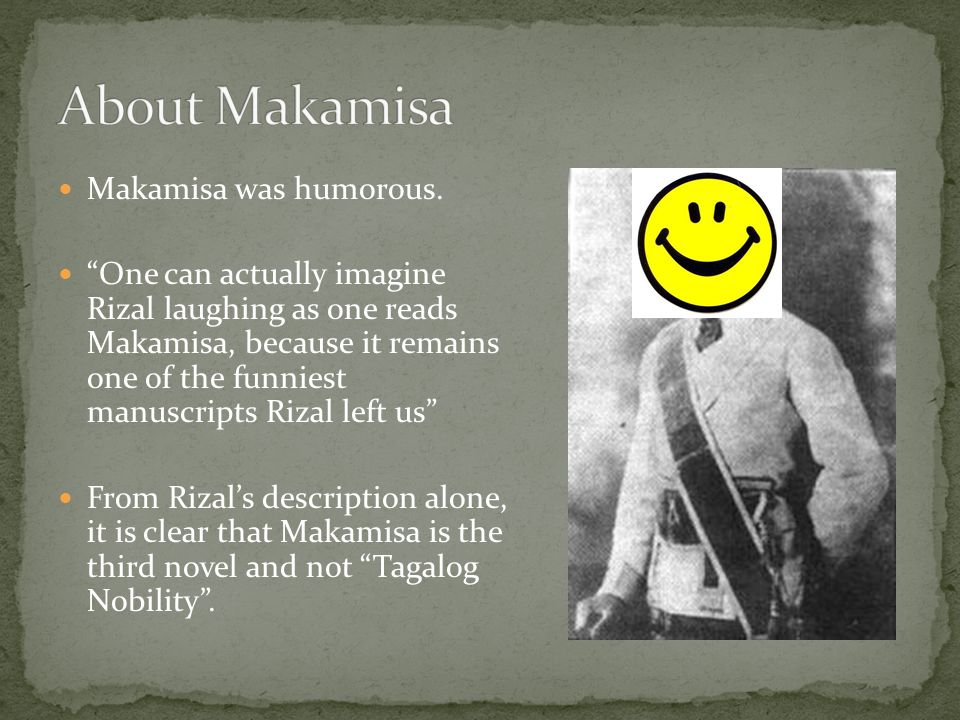 About Makamisa Makamisa was humorous.