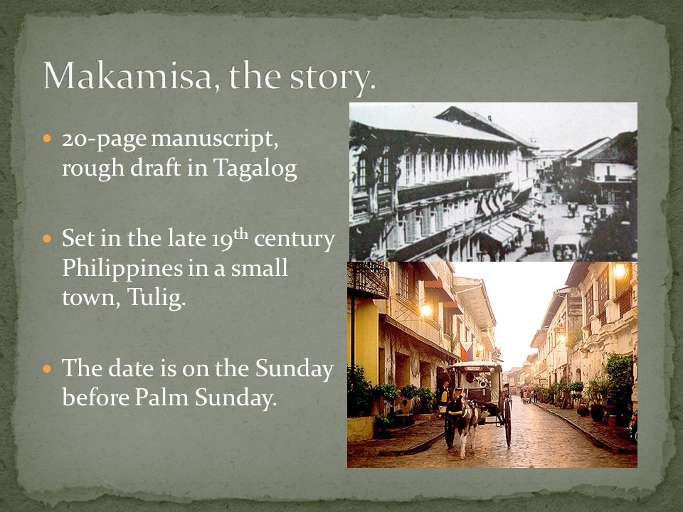Makamisa, the story. 20-page manuscript, rough draft in Tagalog