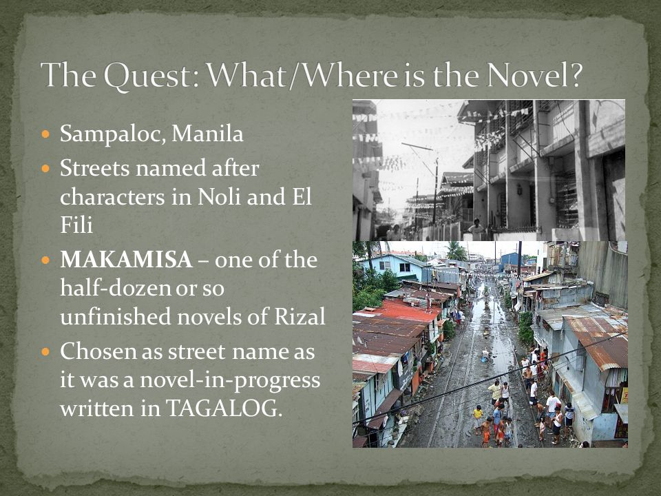 The Quest: What/Where is the Novel