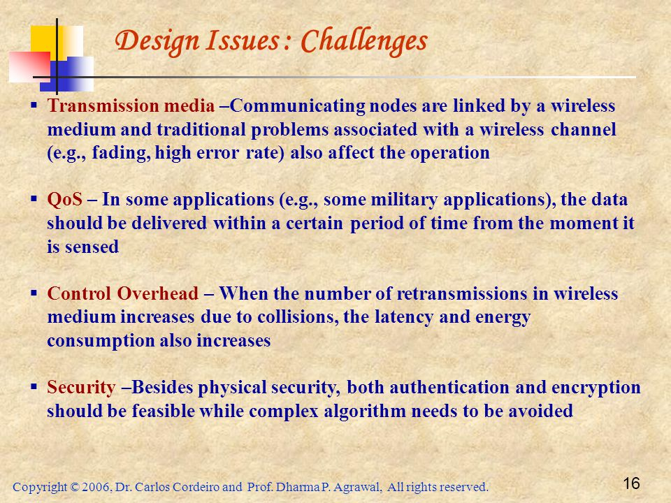 Design Issues : Challenges