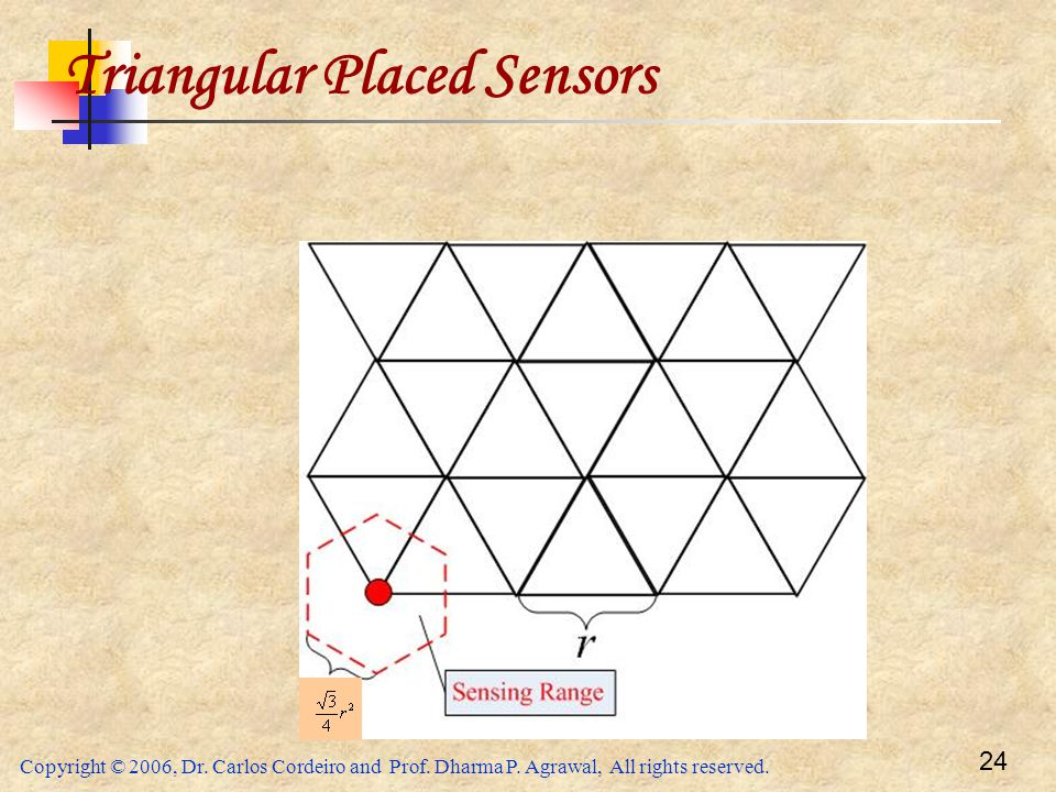Triangular Placed Sensors