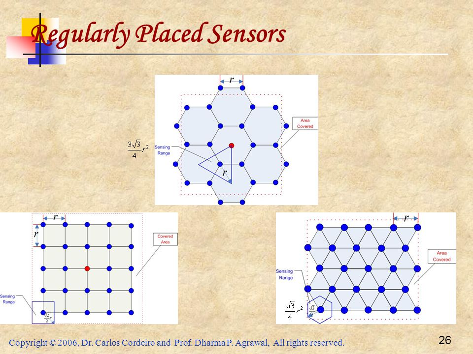 Regularly Placed Sensors