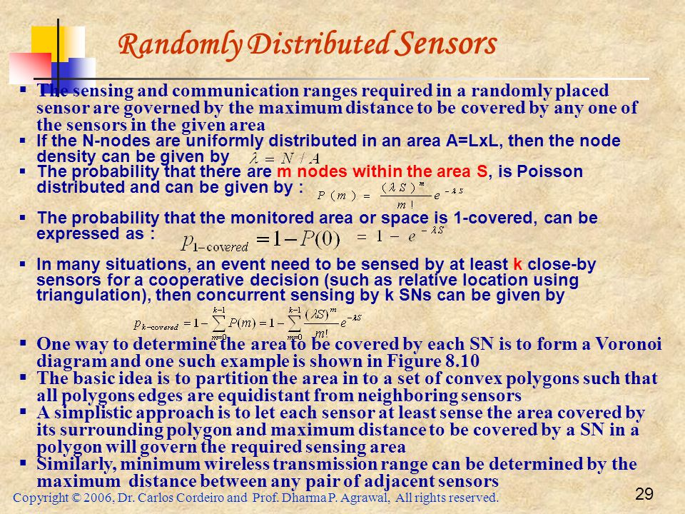 Randomly Distributed Sensors
