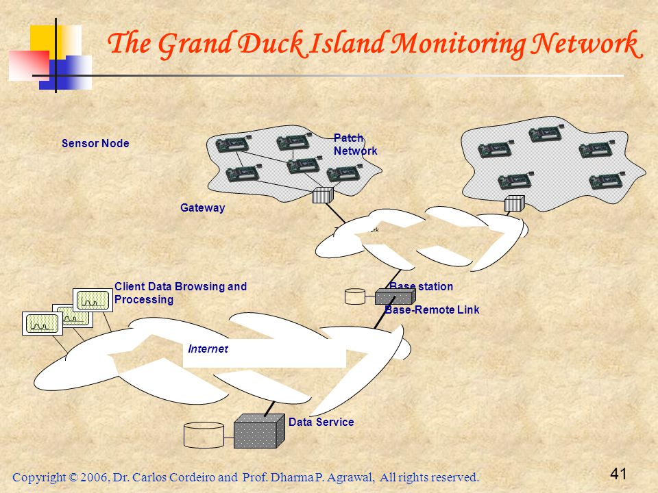 The Grand Duck Island Monitoring Network