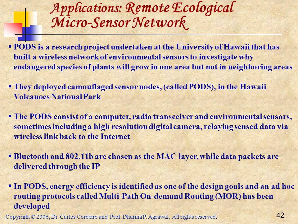 Applications: Remote Ecological Micro-Sensor Network