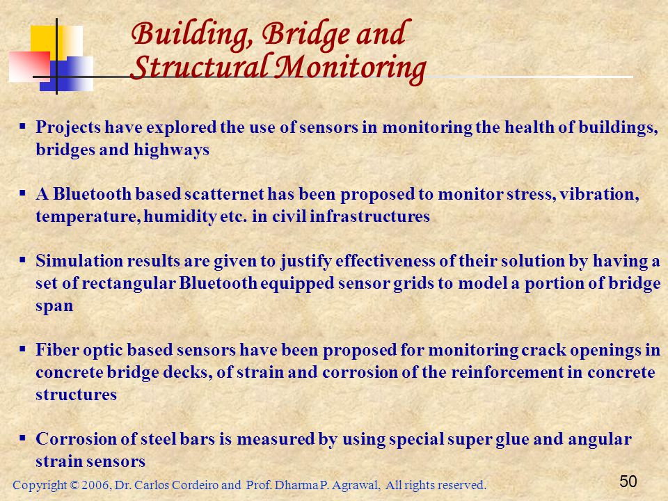 Building, Bridge and Structural Monitoring