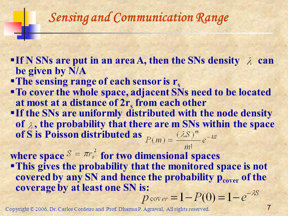 Sensing and Communication Range