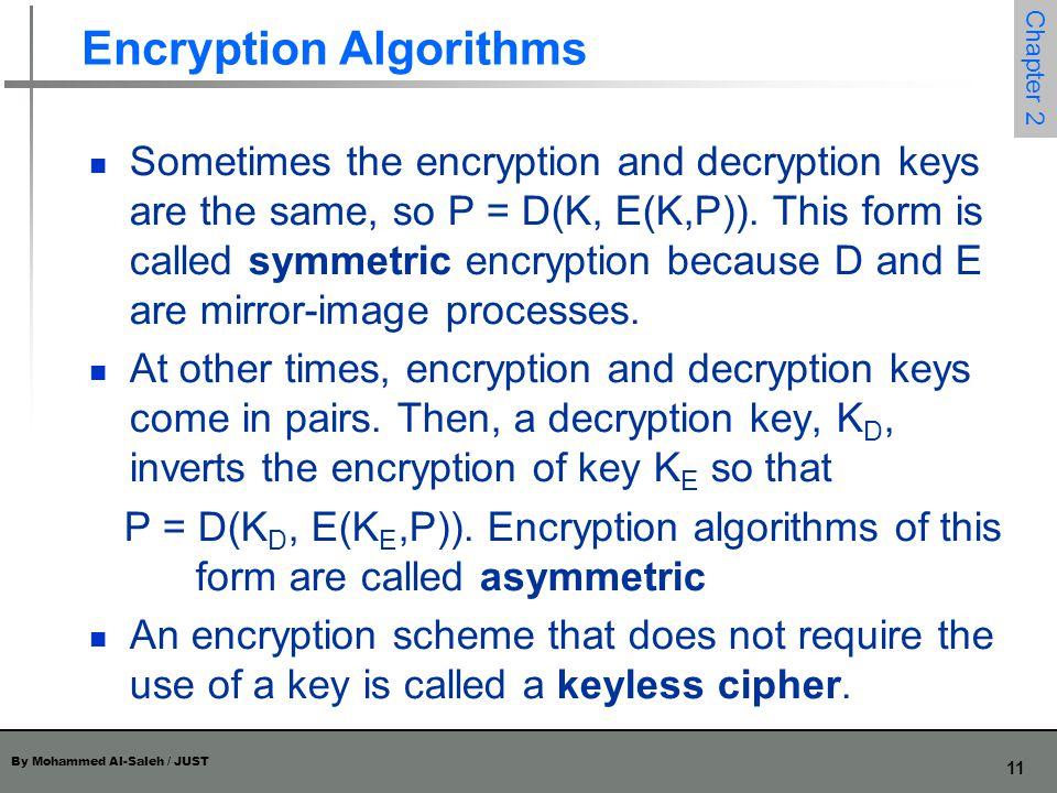 Encryption Algorithms