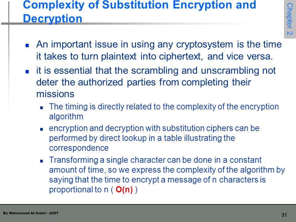 Complexity of Substitution Encryption and Decryption