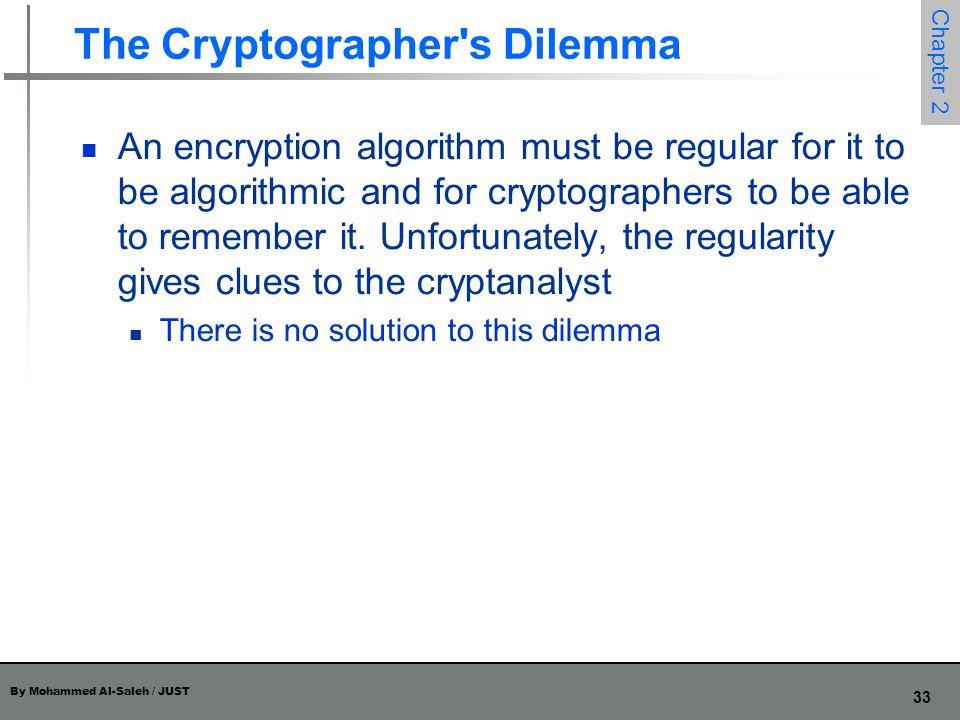 The Cryptographer s Dilemma