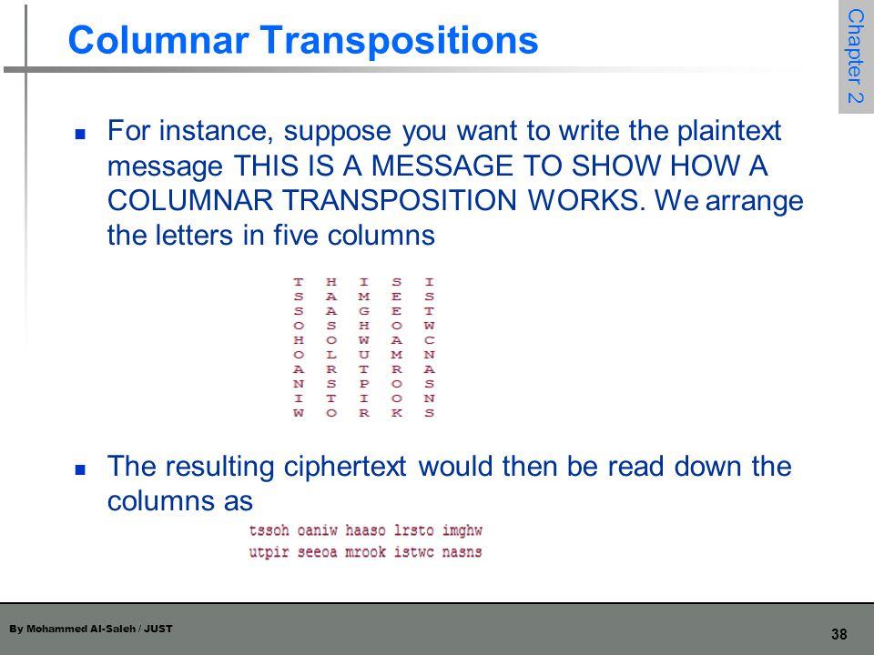 Columnar Transpositions