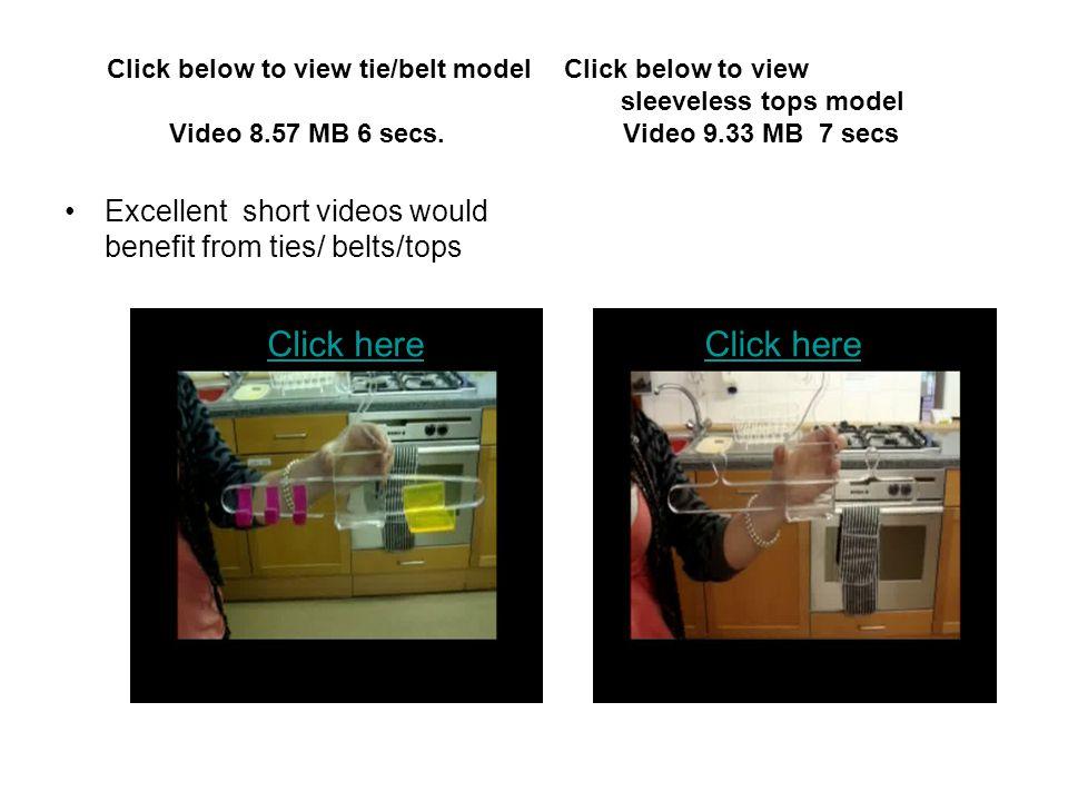 Click below to view tie/belt model Click below to view