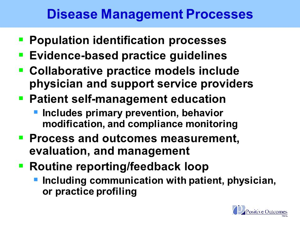 Disease Management Processes