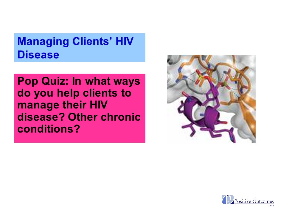 Managing Clients' HIV Disease