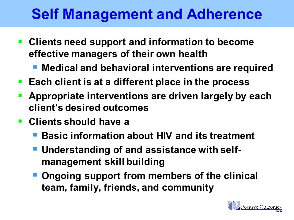 Self Management and Adherence