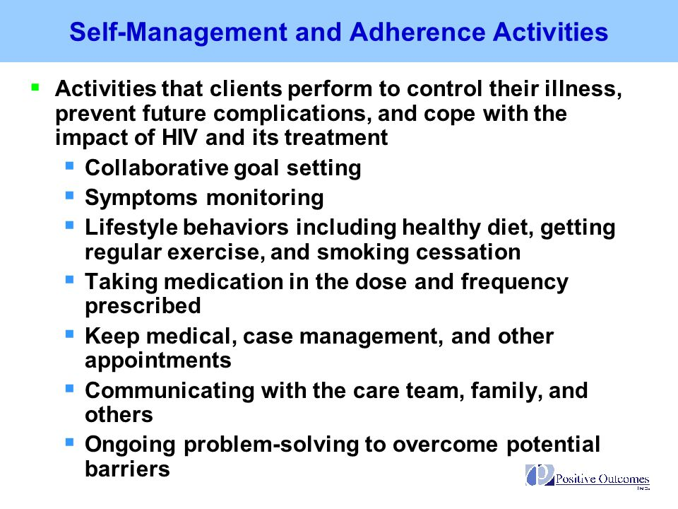 Self-Management and Adherence Activities
