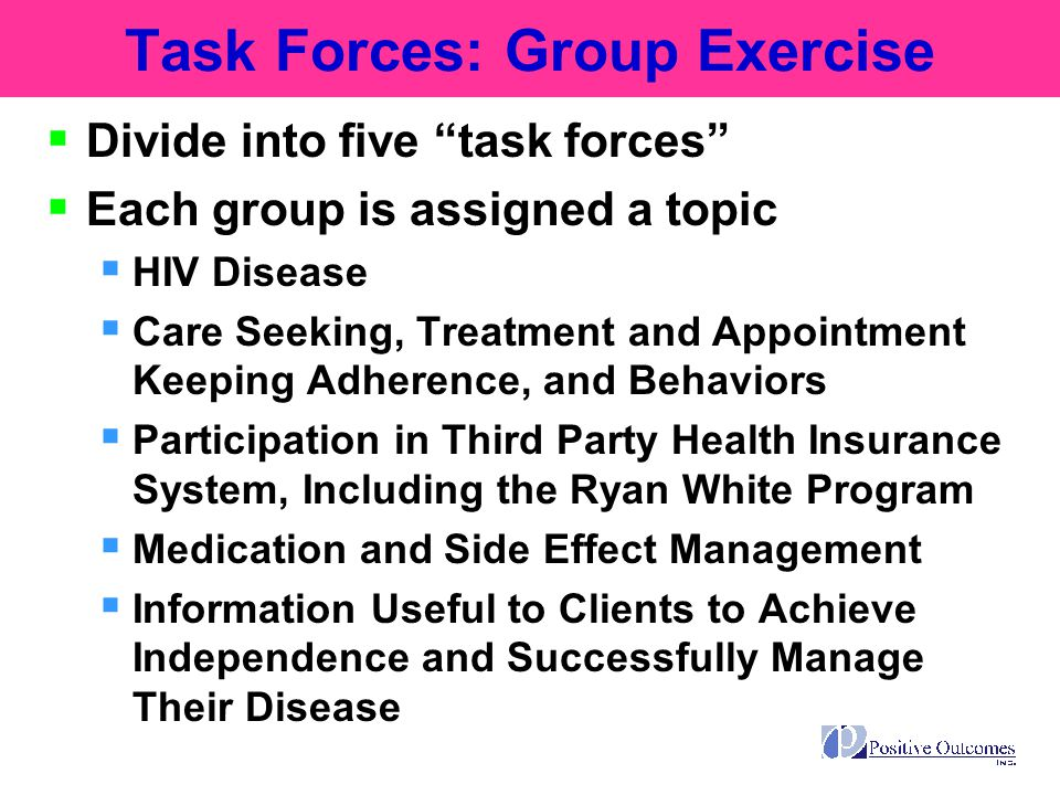 Task Forces: Group Exercise