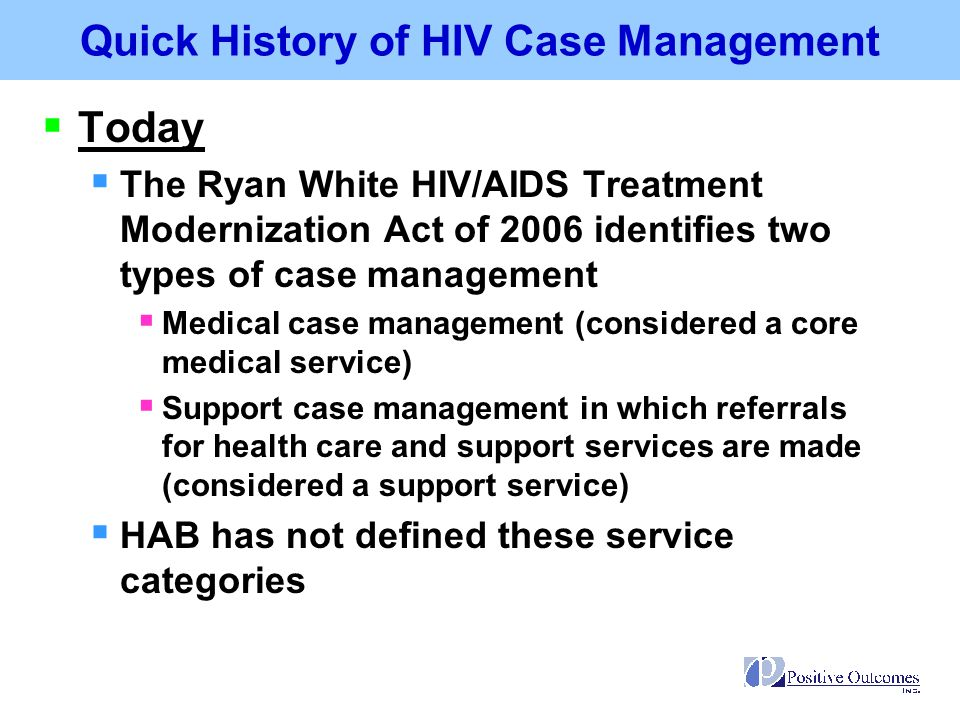 Quick History of HIV Case Management