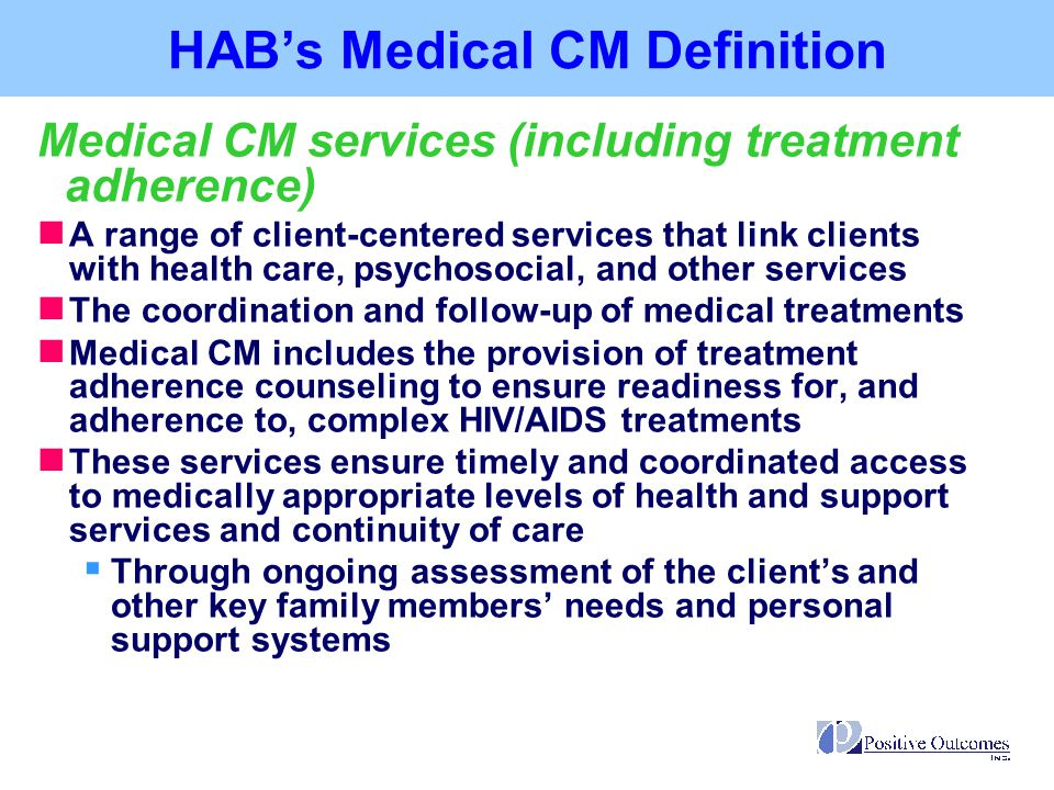 HAB's Medical CM Definition