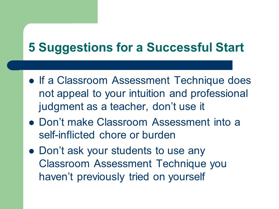 5 Suggestions for a Successful Start