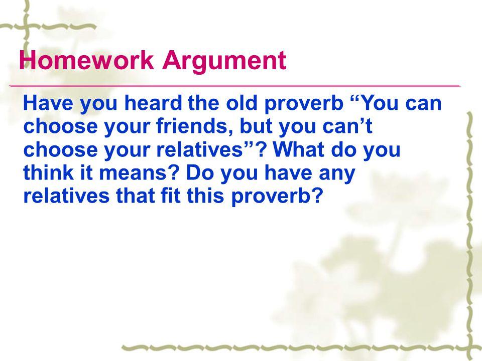Homework Argument