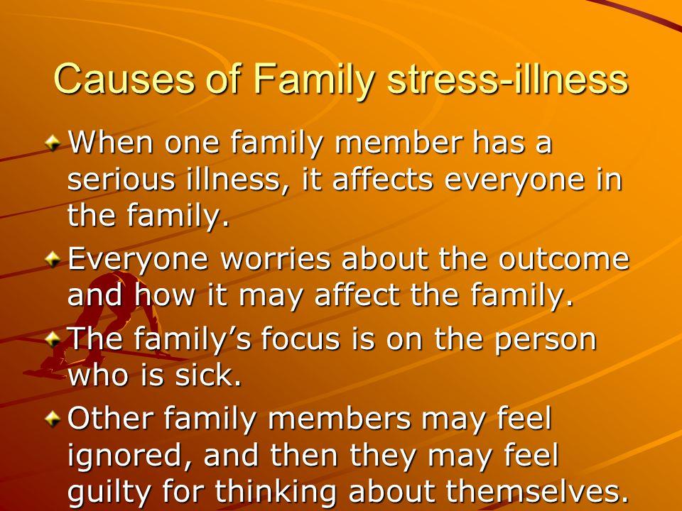Causes of Family stress-illness