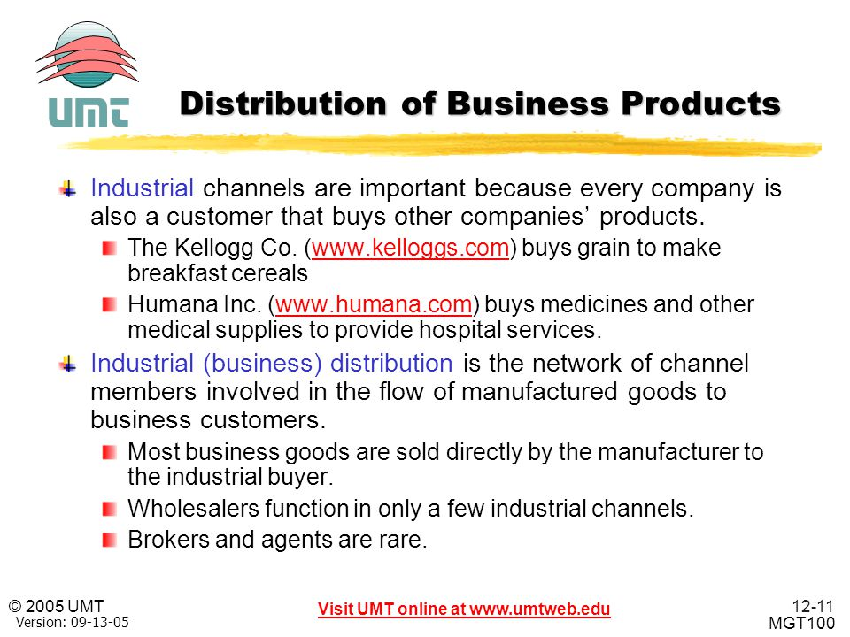 Distribution of Business Products