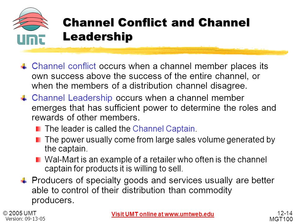 Channel Conflict and Channel Leadership